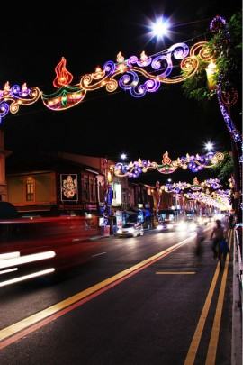 Little India catenary MFP at night